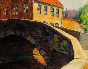Harry Kernoff RHA (1900-1974), Canal Bridge at Morgan O'Driscoll Art Auctions