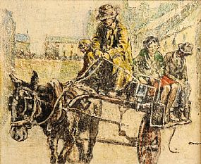 William Conor RHA RUA ROI (1881-1968), The Jaunting Cart at Morgan O'Driscoll Art Auctions