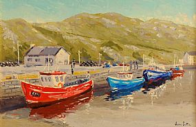 Ivan Sutton (b.1944), Low Tide, North Harbour, Cape Clear Island at Morgan O'Driscoll Art Auctions