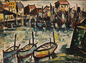Henry Healy RHA (1901-1982), Moored Boats at Morgan O'Driscoll Art Auctions
