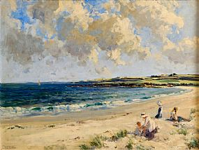 James Humbert Craig RHA RUA (1878-1944), Mother and Children on the Beach, Dog's Bay, Roundstone at Morgan O'Driscoll Art Auctions