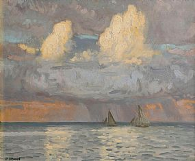 Patrick Leonard HRHA (1918-2005), Cloud Study, Passing Showers, Skerries at Morgan O'Driscoll Art Auctions