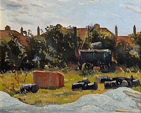 Patrick Leonard HRHA (1918-2005), Tar Tracker on the Skerries Road at Morgan O'Driscoll Art Auctions