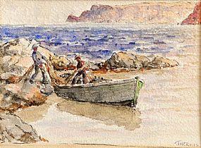 James Humbert Craig RHA RUA (1878-1944), Unloading The Catch at Morgan O'Driscoll Art Auctions