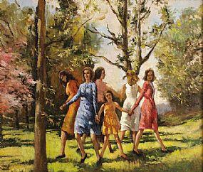 James LeJeune RHA (1910-1983), Ring A Ring Of  Rosie at Morgan O'Driscoll Art Auctions