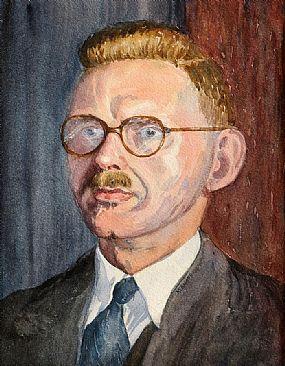 Harry Kernoff RHA (1900-1974), Portrait of a Gentleman at Morgan O'Driscoll Art Auctions
