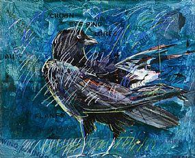 Charles Harper RHA (b.1943), Crow at Morgan O'Driscoll Art Auctions