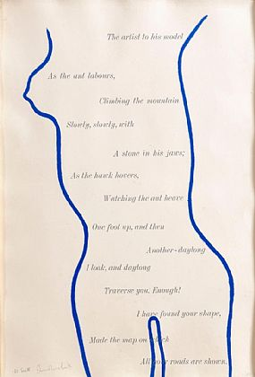 William Scott OBE RA (1913-1989), Blue Nude With Writing at Morgan O'Driscoll Art Auctions