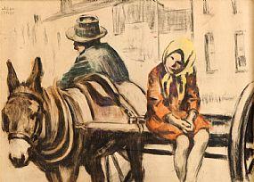 William Conor RHA RUA ROI (1881-1968), The Donkey Cart at Morgan O'Driscoll Art Auctions