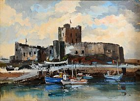 Kenneth Webb RWA FRSA RUA (b.1927), Carrickfergus Castle, Co. Armagh, c.1960 at Morgan O'Driscoll Art Auctions