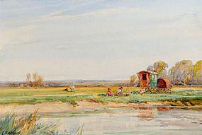 Frank McKelvey RHA RUA (1895-1974), Gypsy Encampment at Morgan O'Driscoll Art Auctions