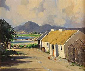 George Gillespie RUA (1924-1996), West of Ireland Cottage at Morgan O'Driscoll Art Auctions