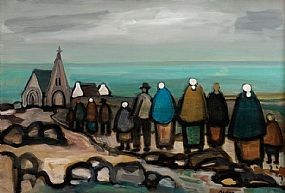 Markey Robinson (1918-1999), Going to Mass at Morgan O'Driscoll Art Auctions