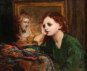 Kathleen Fox (1880-1963), Deep in Thought at Morgan O'Driscoll Art Auctions