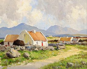 Maurice Canning Wilks ARHA RUA (1911-1984), Galway Cottages at Morgan O'Driscoll Art Auctions