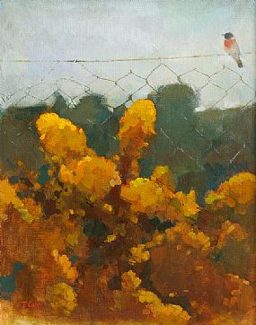 Tom Carr HRHA HRUA ARWS (1909-1999), Gorse & Robin at Morgan O'Driscoll Art Auctions