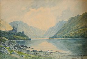 Douglas Alexander RHA (1871-1945), Glenveigh Castle, Co. Donegal at Morgan O'Driscoll Art Auctions
