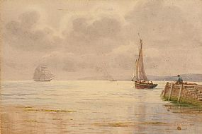 Joseph William Carey RUA (1859-1937), Harbour Fishing Seascape at Morgan O'Driscoll Art Auctions