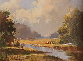 George Gillespie RUA (1924-1996), On The River Lagan, Near Drumbeg at Morgan O'Driscoll Art Auctions
