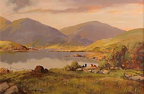 George Gillespie RUA (1924-1996), Landscape, Moutains and Lake at Morgan O'Driscoll Art Auctions