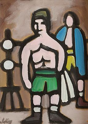 Markey Robinson (1918-1999), Markey's Recollection of his Boxing Days c.1940's at Morgan O'Driscoll Art Auctions