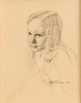 Sean O'Sullivan RHA (1906-1964), Portrait of Julien, The Artist's Daughter at Morgan O'Driscoll Art Auctions