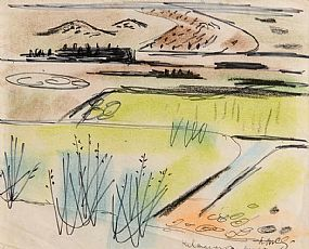 Norah McGuinness HRHA (1901-1980), Landscape at Morgan O'Driscoll Art Auctions
