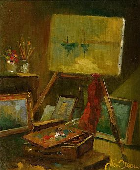 Liam Treacy RHA (1934-2005), Studio Corner at Morgan O'Driscoll Art Auctions
