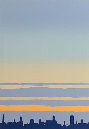 Robert Ballagh (b.1943), Dublin Skyline at Morgan O'Driscoll Art Auctions