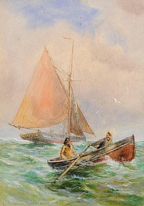 Alexander Williams RHA (1846-1930), Off The Harbour at Morgan O'Driscoll Art Auctions