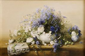 Judith Levin (b.1956), Blue and White at Morgan O'Driscoll Art Auctions