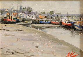 Mat Grogan (20th/21st Century), Fishing Port at Morgan O'Driscoll Art Auctions