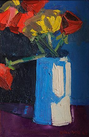 Brian Ballard RUA (b.1943), Red and Yellow Tulips at Morgan O'Driscoll Art Auctions