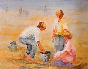 Elizabeth Brophy (20th/21st Century), Gathering Shells at Morgan O'Driscoll Art Auctions