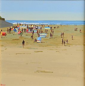John Morris (20th/21st Century), Busy Day, Ballybunion at Morgan O'Driscoll Art Auctions