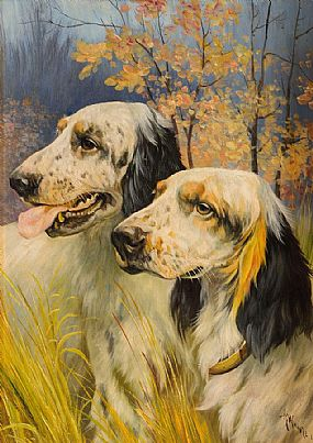 Attributed to Arthur Wardle (1864-1949) British, Hunting Dogs at Morgan O'Driscoll Art Auctions