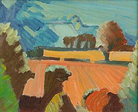 John Jobson (b.1941), Stubble From Little Sugar Loaf at Morgan O'Driscoll Art Auctions