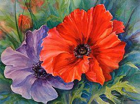 Cora Harrington RUAA (20th/21st Century), Poppies at Morgan O'Driscoll Art Auctions