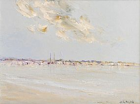 Thelma Mansfield (20th/21st Century), Dun Laoghaire Spires at Morgan O'Driscoll Art Auctions