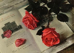 Thomas Ryan PPRHA (b.1929), Roses and Old Dublin at Morgan O'Driscoll Art Auctions