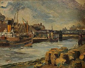 Ronald Ossory Dunlop RA RBA MEAC (1894-1975), Lady Miranda on the Liffey at Morgan O'Driscoll Art Auctions
