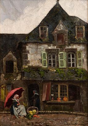 Helen Mabel Trevor RHA (1831-1900), The Old House, Pont-Aven at Morgan O'Driscoll Art Auctions