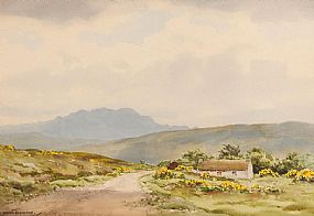 Frank Egginton RCA (1908-1990), Lough Salt Mountain from Glen, Co. Donegal at Morgan O'Driscoll Art Auctions