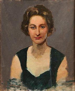 Sean O'Sullivan RHA (1906-1964), Lady in Green Dress at Morgan O'Driscoll Art Auctions