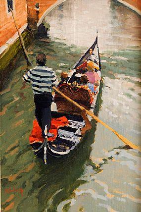 Peter Curling (b.1955), Lone Gondala at Morgan O'Driscoll Art Auctions