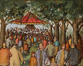 Gladys MacCabe ROI FRSA MA HRUA (1918-2018), Hobby Horses at Morgan O'Driscoll Art Auctions