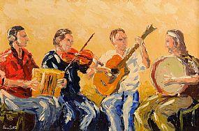 Ivan Sutton (b.1944), Irish Ceili Band at Morgan O'Driscoll Art Auctions