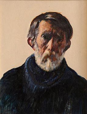 Sean Keating PRHA HRA  HRSA (1889-1977), Self Portrait (1972) at Morgan O'Driscoll Art Auctions