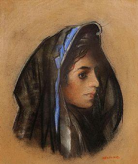 Sean Keating PRHA HRA  HRSA (1889-1978), Study of a Young Lady at Morgan O'Driscoll Art Auctions