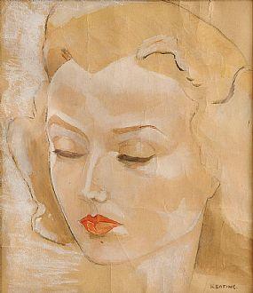 Sean Keating PRHA HRA  HRSA (1889-1978), Study of a Female Head at Morgan O'Driscoll Art Auctions